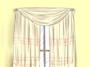 How To Do Draping How To Drape Window Scarves 5 Steps With Pictures Wikihow