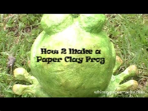 How Do You Make A Frog Out Of Paper - how to make a frog with paper clay