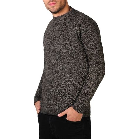 Ola Basic Knitted Crew Neck Top mens soft wool knitted crew neck warm jumper sweater