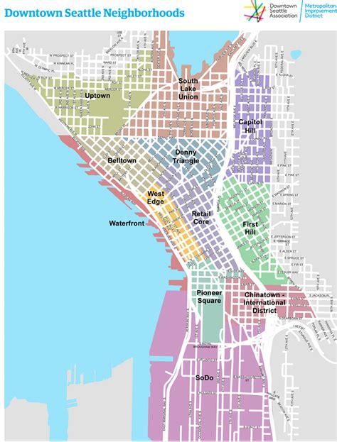 seattle map lake union downtown seattle association residents council dsa