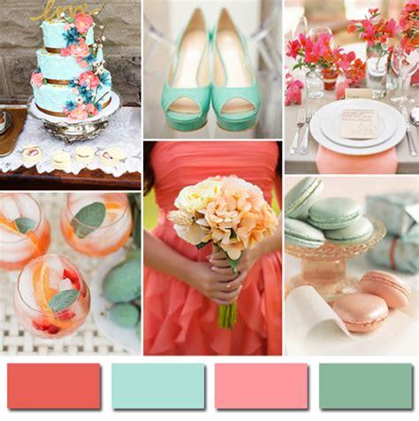 mint green coral wedding trending wedding colors 2014 for colorado brides
