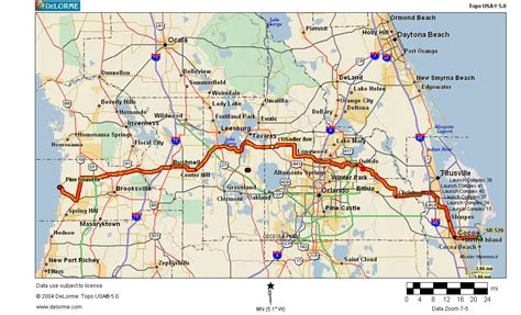 florida trail map cycling routes crossing florida