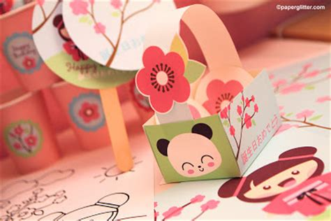 Printable Japanese Paper Crafts | paper glitter cute downloads printables paper crafts