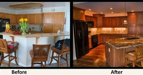 Bi Level Kitchen Remodels Before And After Small Split Level Kitchen Remodel Before And After