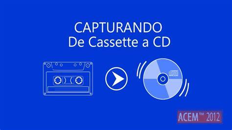da cassetta a cd grabar de cassette a mp3 o cd