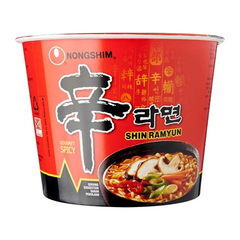 Nongshim Shinramyun Cup Noodle Soup nongshim spicy shin ramyun bowl 117g from redmart