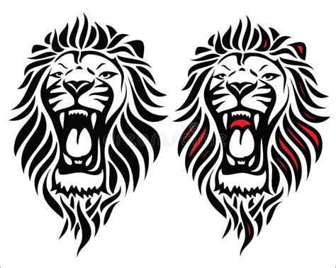 xs tattoo prices isolated tribal lion tattoo stock vector illustration of