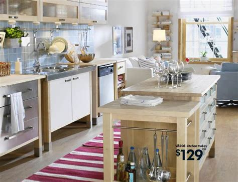 the idea of a free standing kitchen is getting around