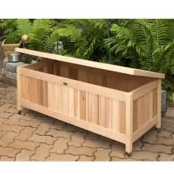 backyard storage box outdoor cedar storage box great for toys gardening