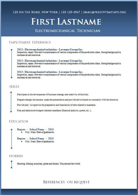 Printable Resume Templates – Microsoft Office Word Printable Calendar Template Ahbzcwc