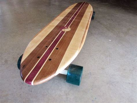 Handcrafted Longboards - 40 inch solid wood quot big sur quot longboard skateboard
