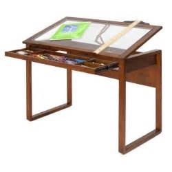 Glass Drafting Table With Light Solid Wood Glass Top Drafting Table Desk Drawing Design Light Drawer