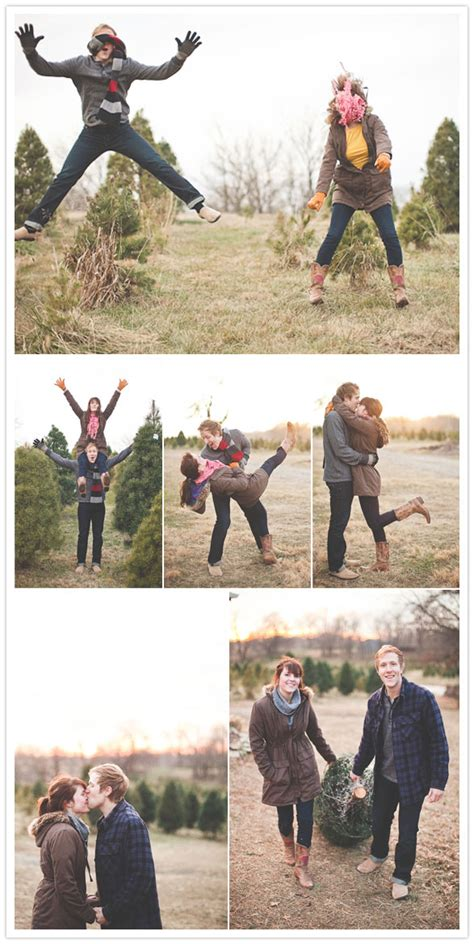 a kansas city christmas engagement sesh engagements