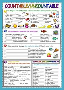 countable uncountable nouns interactive worksheet