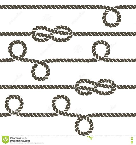 navy pattern vector navy rope with marine knots vector seamless pattern stock