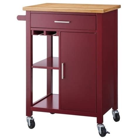 red kitchen island cart red kitchen storage cart at target com burgundy wine