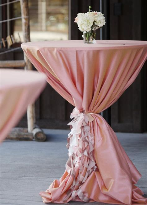 Blush Pink Wedding Cocktail Hour Decor   * Weddings