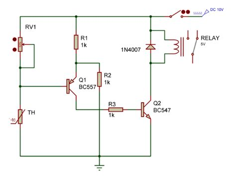 temperature relay controller switch circuit gadgetronicx