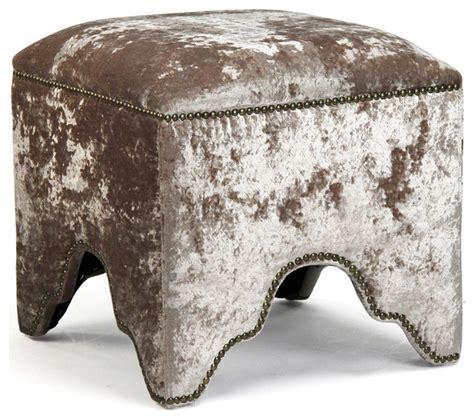 feet for ottoman modern mink velvet nail head trim ottoman foot stool