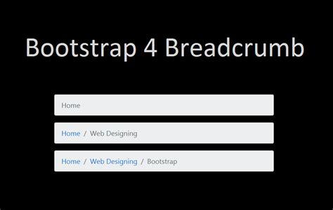 tutorial bootstrap 4 bootstrap 4 breadcrumb tutorial 187 webnots