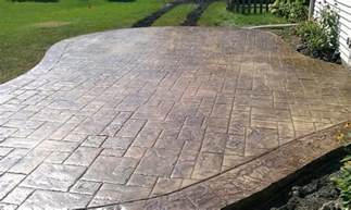 Concrete Stamped Patio by Decorative Stamped Concrete Patios Buchheit Construction