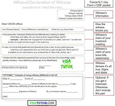 Employment Verification Letter For K1 Visa Witness Affidavits Help K 1 Visa Cases With Flags 171 Visa Tutor