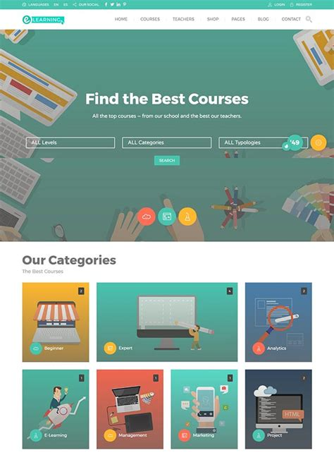 themes wordpress learning 26 best education wordpress themes 2017 you need to see