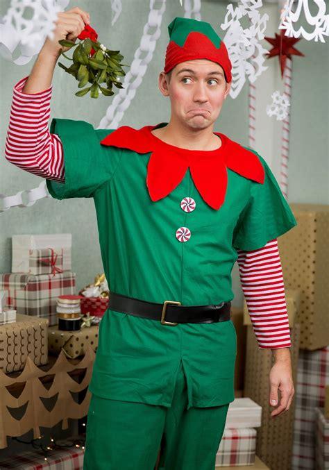 size holiday elf costume  men
