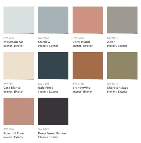 sherwin williams colormix 2017 collection holistic 2017 paint colors