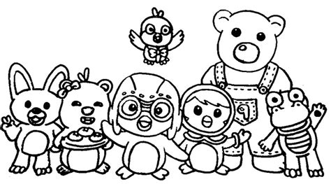 Coloring Page Pororo Pororo And Friends 9 Coloring In Books