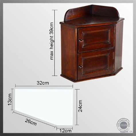 Mahogany Medicine Cabinet by Regency Small Corner Cupboard Medicine Cabinet Mahogany