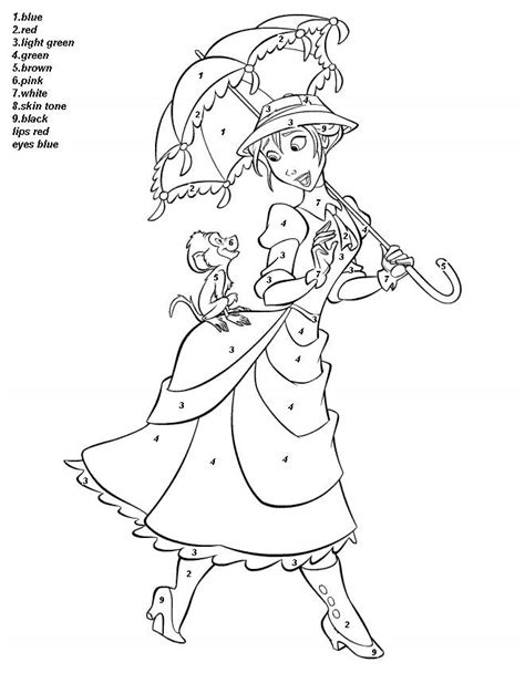 disney coloring pages by numbers color by numbers coloring pages for kids coloring home