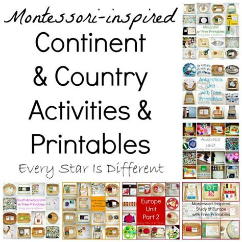 montessori printables for preschool 225 best images about montessori geography on pinterest