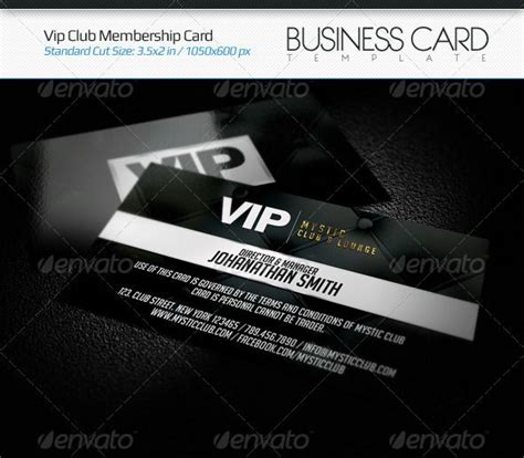 Vip Discount Card Template by Vip Club Membership Card Corporate Business