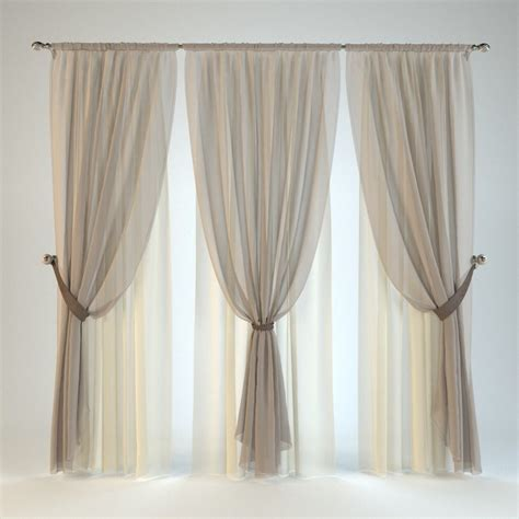 tende model 3d model curtain