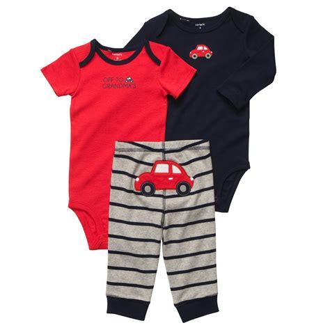 S 3 Babyboy Bodysuit And Pant Set Cs074 3 bodysuit pant set carters