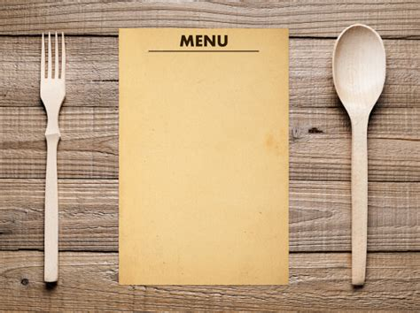 menu card template powerpoint 21 blank menus sle templates