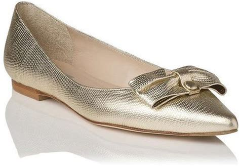 lk flat shoes lk irani pointy toe flat shoes in gold lyst