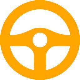 Steering Wheel Icon Orange Steering Wheel Icon Free Orange Steering Wheel Icons