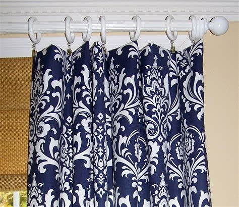 Blue Patterned Curtains Navy Blue Patterned Curtains Home Design Ideas