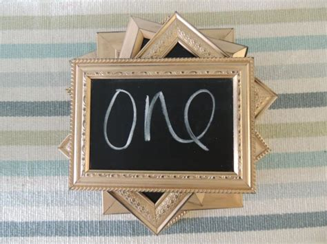 silver frames for wedding table numbers gold silver or copper distressed chalkboard frames