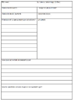 famous person biography research template graphic