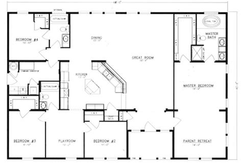 get a home plan metal 40x60 homes floor plans floor plans i d get rid of the 4th bedroom and make that a