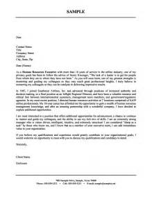 Cover Letter Exles For Human Resources by Human Resources Executive Cover Letter