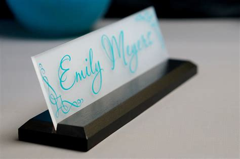 Office Desk Name Plates Desk Name Plate Office Supply Personalized Sign Gift