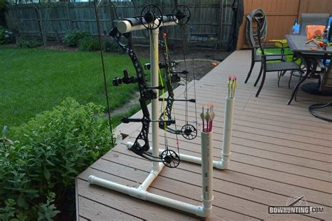 archery bow stand plans how to build a pvc bow arrow stand bowhunting