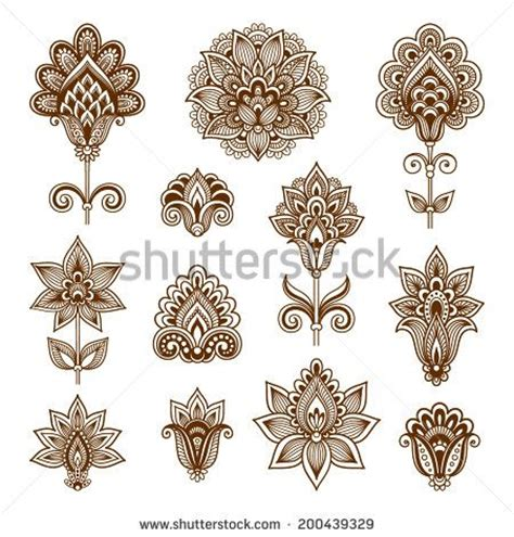 flor do rio on pinterest abstract flowers vector ornamental flowers vector set with abstract floral
