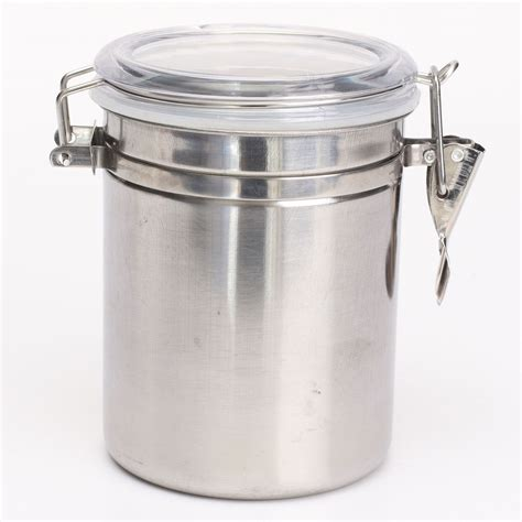 1 4pcs airtight stainless steel canisters storage