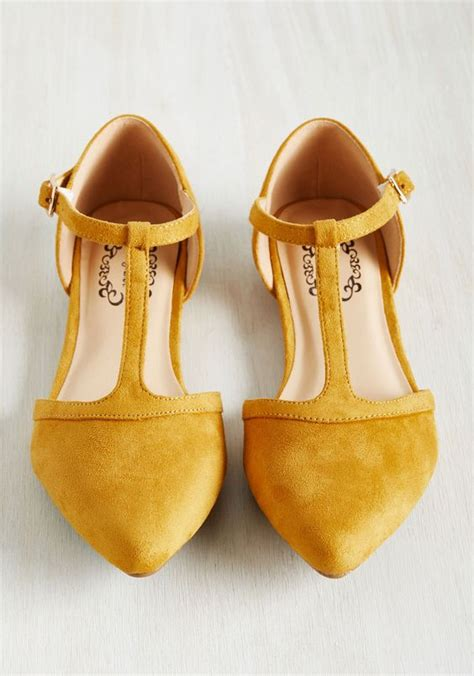 mustard colored flat shoes turn back prime flat in marigold shoes fashion