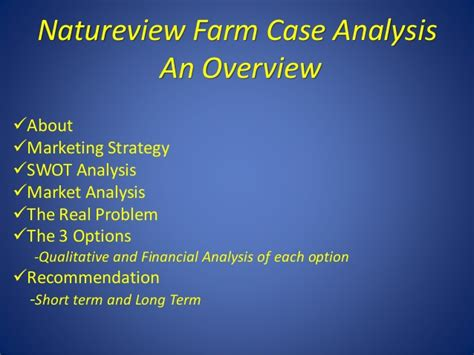 Indian School Of Mines Mba by Natureview Farm Analysis